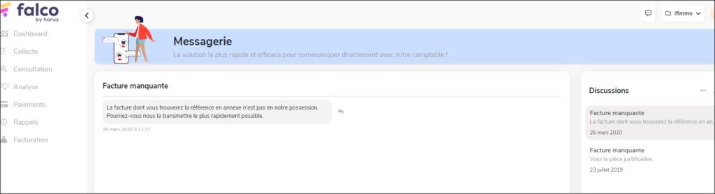 Falco-horus-mobile-app-fiduciaire-client-nouvelle-messagerie